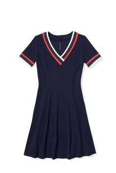 V-Neck Dress ($150) To Tommy, From Zooey