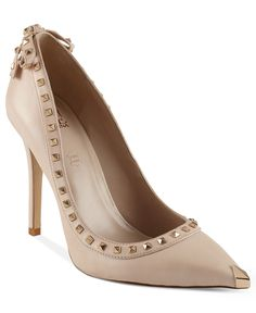 leather Valentino-inspired studded with a shy captoe.  Truth or Dare by Madonna.