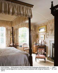 century Cambridgeshire country house restored with original features British Decor, English House, English Manor, Serene Bedroom, English Country Style, Antique Interior, Beautiful Interiors, Beautiful Bedrooms, Home Decor Inspiration