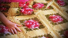 Manta Crocheted paso a paso con el gráfico y el Tutorial libres. Hilo maravilloso – Aprende Con Diana