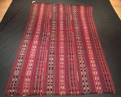 Malatya Multipanel Cicim, Turkish Decorative Jijim Rug, 5'3'' x 8'9'' (160 cm x 235 cm), Vintage Anatolian Red Cicim