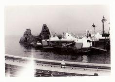 """Vintage 1960s B&W Photo Snapshot Bregenzer Festspiele Stage 3.5"""" x 5"""""""