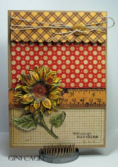Graphic 45 and Flourishes stamps by Gini Cagle