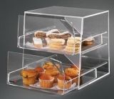 Elegant 2 layer clear acrylic drawers cupcake display cabinet FSK-027