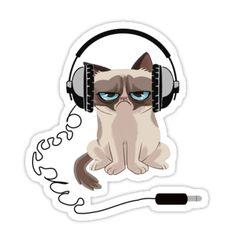 10 Wealthy Tips AND Tricks: Persian Cat Teacup ragdoll cat faces.Orange Cat Friends grumpy cat new year. Grumpy Cat Gif, Grump Cat, Tumblr Stickers, Cute Stickers, Cat Headphones, Gato Animal, Huge Cat, Cat Anatomy, Emoticons