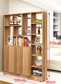 Without building walls: 10 cheap room dividers and very easy to copy! without walls dividers cheap building Living Room Partition Design, Living Room Divider, Room Partition Designs, Living Room Decor, Room Divider Shelves, Room Deviders, Cheap Room Dividers, Wooden Partitions, Muebles Living