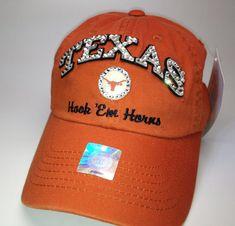 Swarovski crystal bling Texas Longhorns adjustable by STLSparkle