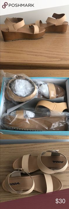 Nude flat-form soda sandals (BRAND NEW) Never been worn! Great for summer Soda Shoes Sandals