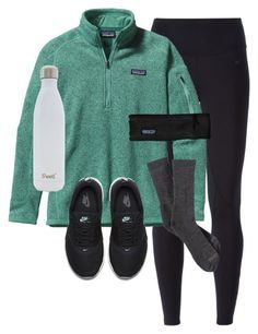 """""""Day 16 of prep-mas: P is for Patagonia!"""" by preppy-101 ❤ liked on Polyvore featuring NIKE, Patagonia and S'well"""