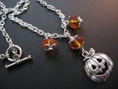 Pumpkin Necklace Pumpkin Jewelry Swarovski Necklace by jewelryrow, $18.00 https://www.etsy.com/listing/106925095/pumpkin-necklace-pumpkin-jewelry