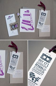 Bookish Letterpress Wedding Invitations http://www.invitationcrush.com/bookish-letterpress-wedding-invitations/