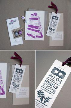 Bookish Letterpress Wedding Invitations http://www.invitationcrush.com/bookish-letterpress-wedding-invitations/