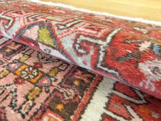 PERSIAN RUG Runner Vintage Karaja Oriental Rug