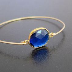 Sapphire Blue Quartz Bracelet Sapphire Blue by FrostedWillow, $39.95