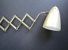 Mid Century Accordion Wall Lamp // Vintage Extendable by thisattic