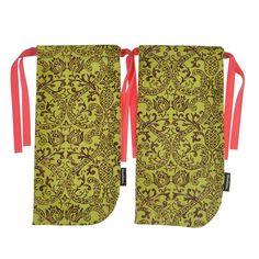 ShoeTotes Pineapple-print Laminate Shoe Bag