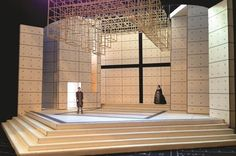 A scenic design rendering of Wolf Hall Parts One & Two by Tony-nominated designer Christopher Oram.