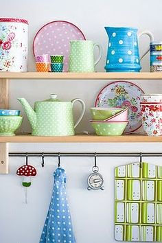 colourful plates and bowls