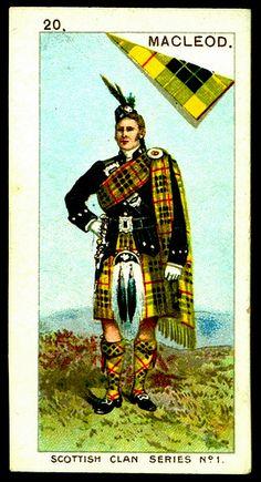 Cigarette Card - Clan MacLeod