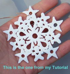 Glitter Embedded Polymer Clay Mini Cutter Snowflake Tutorial