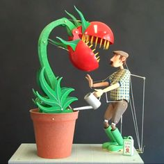 Attack of the Killer Tomato: a fantastic automaton created by Keith Newstead
