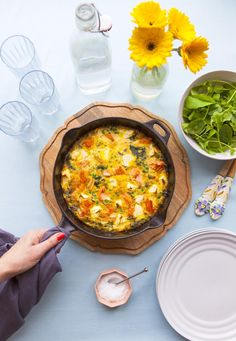 Most of us cook from a rotating menu of a dozen or so meals. Dish magazine's food editor and easy everyday meal expert Claire Aldous offers some fresh inspiration. Add flowers and a glass of wine to transform the everyday into something extraordinary.