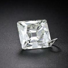 6.79 Carat French-Cut Diamond Pendant - Antique & Vintage Necklaces - Shop for Jewelry
