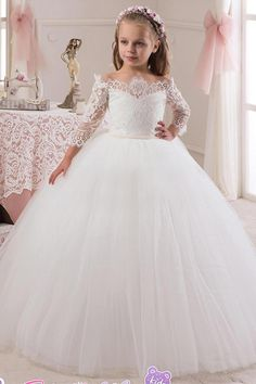 49c41d098 Tulle Flowers, Tulle Flower Girl, Wedding Flower Girl Dresses, Cheap  Wedding Dress,