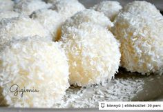 Raffaello golyó Gigimiu konyhájából Hungarian Cake, Hungarian Recipes, Sweet Life, Starters, Entrees, Food And Drink, Sweets, Sugar, Baking