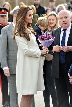 The Duchess of Cambridge with Downton Abbey's creator Lord Julian Fellowes