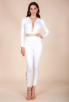 8beeda9d1f Naughty Grl White Party Set - Crystal White Lt Gold - inexpensive online  boutique for women