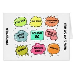 #Custom 1968 yr born - THIS IS YOUR Life - Add BIO Card - #birthday #gifts #giftideas #present #party