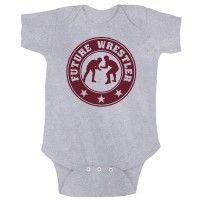 Baby wrestling onesie. Future wrestler, parterrewrestling.com Great wrestling gear