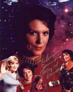 Majel Barret: voice of the starship Enterprise, Nurse Christine Chapel, mother to Deanna Troi