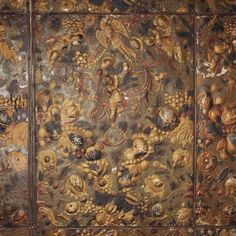 Gilded Leather possibly by Huguenots working in Holland, early late 1600s