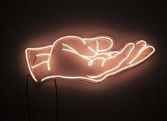 Neon... hand #lights #white #orange