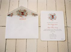 Crest by Happy Menocal- what a fabulous idea for envelope an liner!