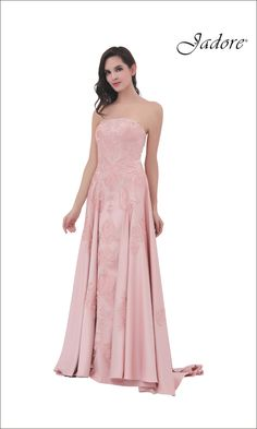 J11345 Strapless, embroidered gown with full skirt.  A perfect choice for Bridesmaid, Maid of Honor, Prom, Pageant, Red Carpet, Evening Gown, Quinceneara, Sweet Sixteen Dress.  Can be special ordered in sizes 2-26.