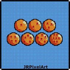 Dragon Ball Perler Template by JR PixelArt