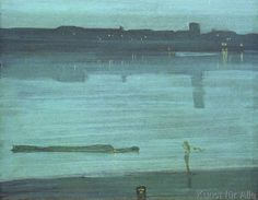 James Abott McNeill Whistler - Nocturne: Blue and Silver-Chelsea