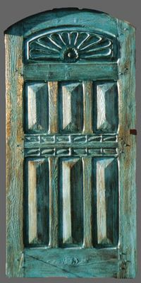 Mexican Turquoise Door - doing this color an effect to my Mexican front gates...LOVE!