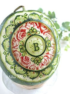 フルーツカービングfood garnish#fruit carving work# flower