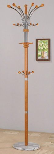 Acme 12269 Nata Coat Rack w/ Marble Base, Oak Finish by Acme Furniture. $78.99. This is a nata collection coat rack. Measures 14-inch length by 14-inch width by 72-inch height. Available in oak finish. Metal hooks attached with marble base. If your entranceway is massive enough, a coat rack with a bench would be in ideal use; made in Taiwan. This is a nata collection coat rack. Available in oak finish. It is a perfect addition to your modern living room furniture. If your entr...