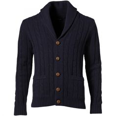 Lambswool Cable Shawl Cardigan