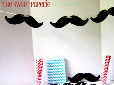 Mustache Bash Banner! I love the ideas for Mustache baby showers for a boy.
