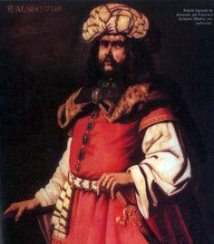 Almanzor - Abu Aamir Muhammad bin Abdallah Ibn Abu Aamir, Alhayib al-Mansur (c. 938 - 8 de agosto de, 1002) , mejor conocido como Almanzor, fue el gobernante de facto de Iberia musulmana (al-Andalus) a finales del 10 al 11 de principios de siglo. Su gobierno marcó el pico de potencia de al-Andalus.