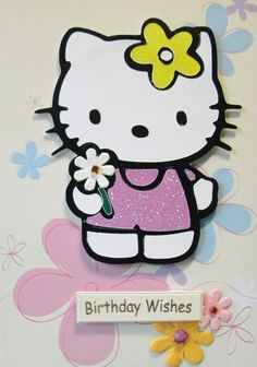 handmade Hello Kitty card.