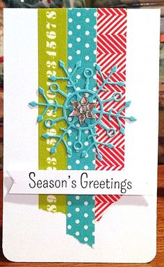 Love this card buy Jana Millen using Kelly Purkey Washi Tape and Simon Says Stamp Exclusives.  December 2013