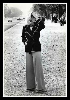 1971 - Yves Saint Laurent suit by Helmut Newton, Paris, 1971