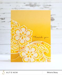 Hi all!! It's Deasy here. I'm sharing my simple card today. For this card, I'm using Lace Up stamps for the image and Many Thanks stamps for the sentiment. First, I stamped the image on yellow card...